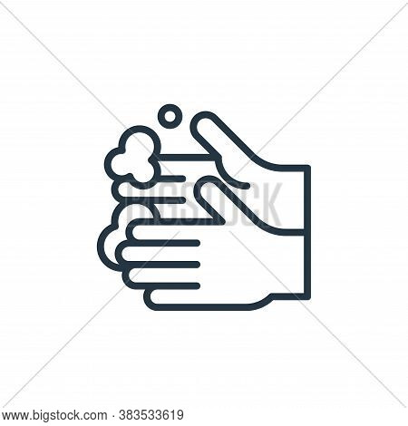 washing hand icon isolated on white background from coronavirus collection. washing hand icon trendy