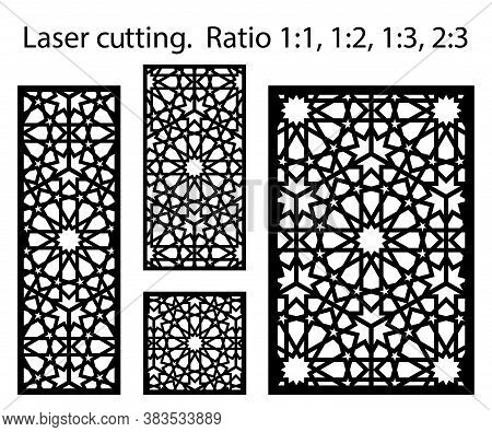 Morocco Laser Cutting Vector Panel Template. Cnc Decor Pattern, Jali Design, Interior Partition. Isl
