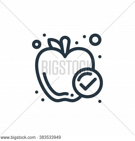 apple icon isolated on white background from food collection. apple icon trendy and modern apple sym