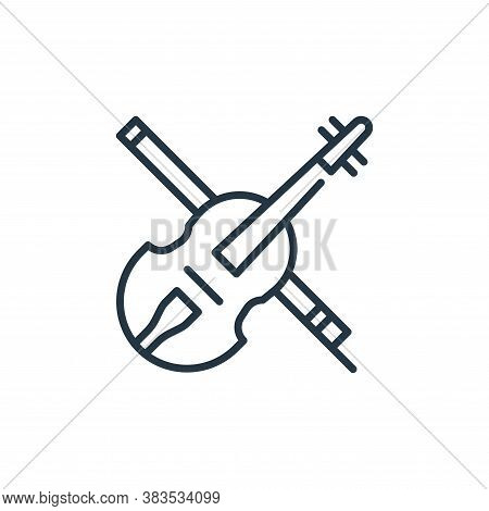 violin icon isolated on white background from cinco de mayo collection. violin icon trendy and moder