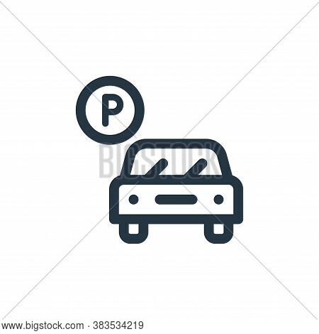 car parking icon isolated on white background from public transportation collection. car parking ico