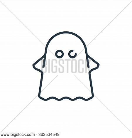ghost icon isolated on white background from fairytale collection. ghost icon trendy and modern ghos