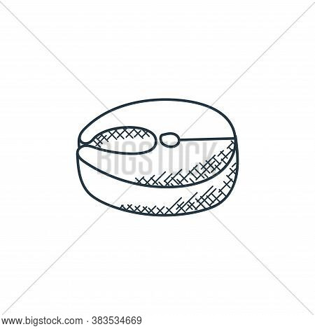 salmon icon isolated on white background from food hand drawn collection. salmon icon trendy and mod