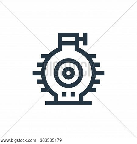 engine icon isolated on white background from machinery collection. engine icon trendy and modern en