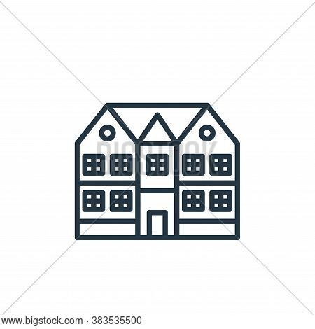 mansion icon isolated on white background from building collection. mansion icon trendy and modern m