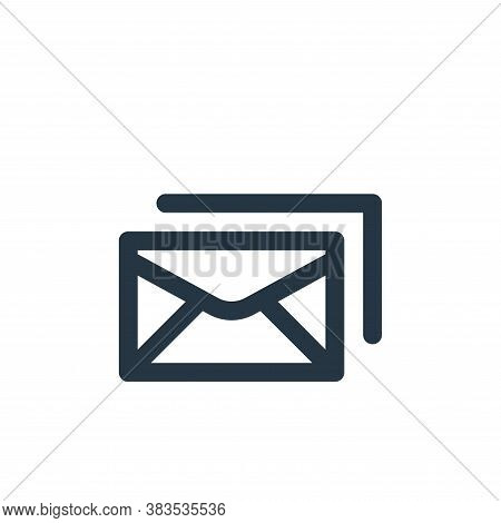 mails icon isolated on white background from email ui collection. mails icon trendy and modern mails