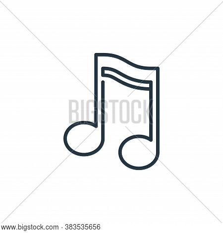 musical note icon isolated on white background from celebration collection. musical note icon trendy