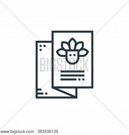 brochure icon isolated on white background from brazilian carnival collection. brochure icon trendy