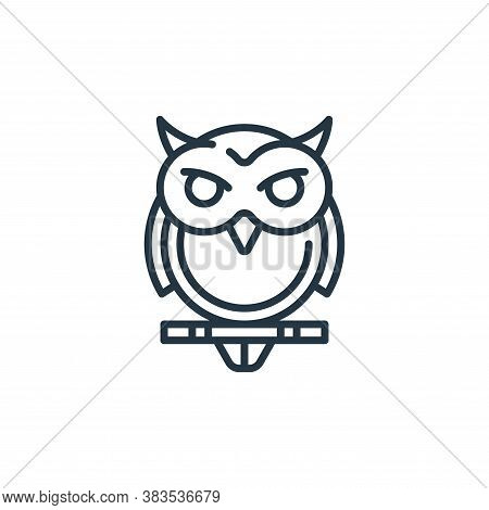 owl icon isolated on white background from fairytale collection. owl icon trendy and modern owl symb
