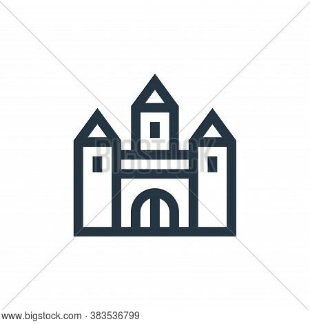 castle icon isolated on white background from fairytale collection. castle icon trendy and modern ca