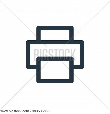 print icon isolated on white background from email ui collection. print icon trendy and modern print