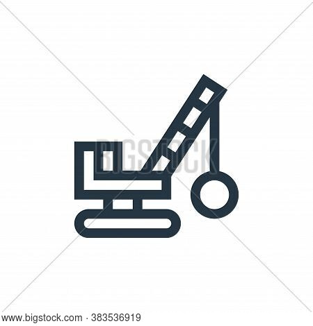 demolition crane icon isolated on white background from machinery collection. demolition crane icon