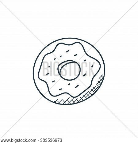 donut icon isolated on white background from food hand drawn collection. donut icon trendy and moder