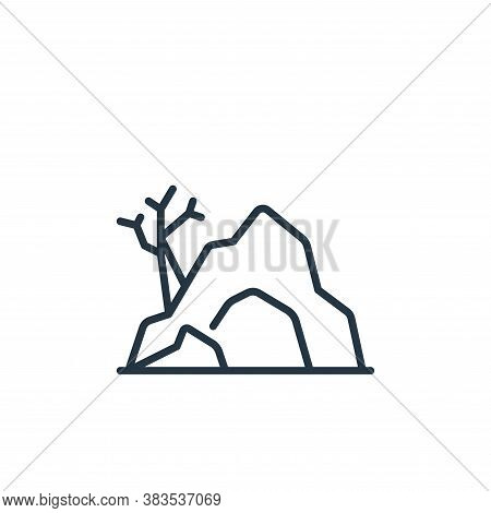cave icon isolated on white background from fairytale collection. cave icon trendy and modern cave s