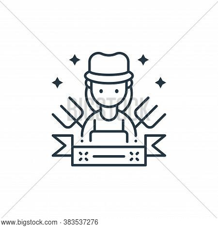 labor woman icon isolated on white background from labor day collection. labor woman icon trendy and