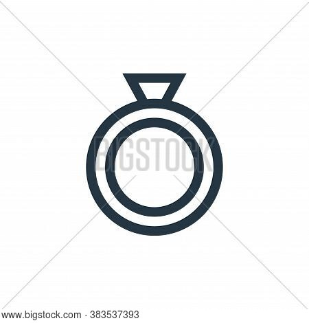 diamond ring icon isolated on white background from fairytale collection. diamond ring icon trendy a
