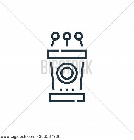 podium icon isolated on white background from voting elections collection. podium icon trendy and mo