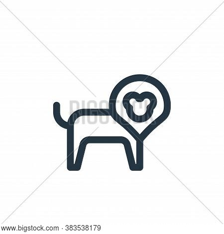 lion icon isolated on white background from animal and nature collection. lion icon trendy and moder