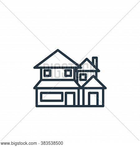 big house icon isolated on white background from building collection. big house icon trendy and mode
