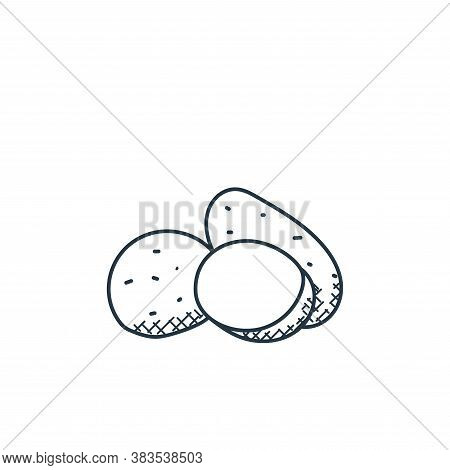 potato icon isolated on white background from food hand drawn collection. potato icon trendy and mod