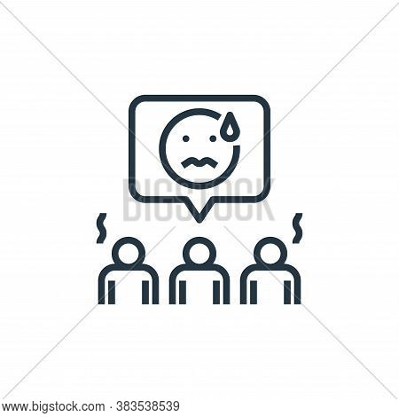 worry icon isolated on white background from detecting fake news collection. worry icon trendy and m