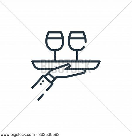 serving icon isolated on white background from restaurant collection. serving icon trendy and modern