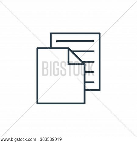 paper icon isolated on white background from sewing collection. paper icon trendy and modern paper s