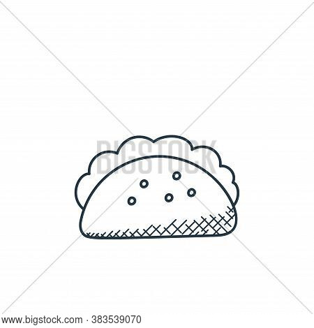 tortilla icon isolated on white background from food hand drawn collection. tortilla icon trendy and
