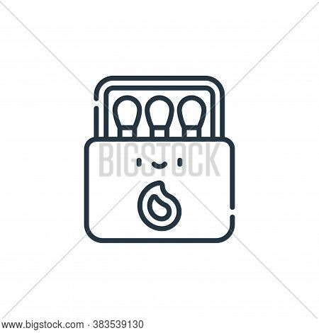 match box icon isolated on white background from adventure collection. match box icon trendy and mod