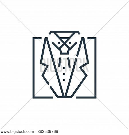 suit icon isolated on white background from voting elections collection. suit icon trendy and modern