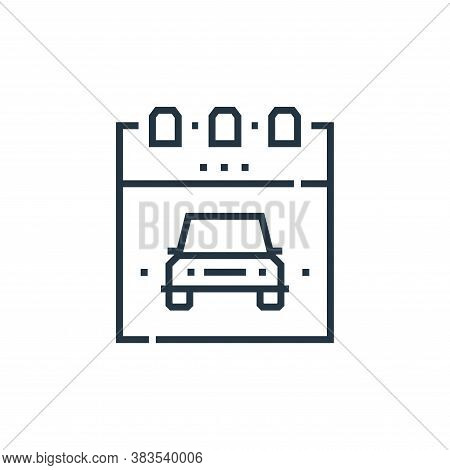 schedule icon isolated on white background from driving school collection. schedule icon trendy and