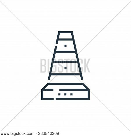 cone icon isolated on white background from driving school collection. cone icon trendy and modern c
