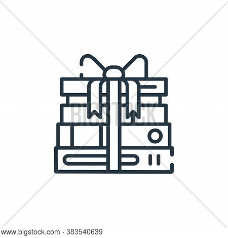 gift icon isolated on white background from books and literature collection. gift icon trendy and mo