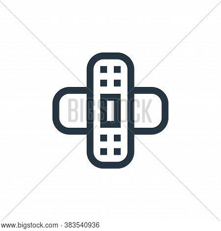 bandage icon isolated on white background from nursing collection. bandage icon trendy and modern ba
