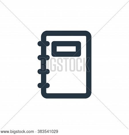 notebook icon isolated on white background from business collection. notebook icon trendy and modern