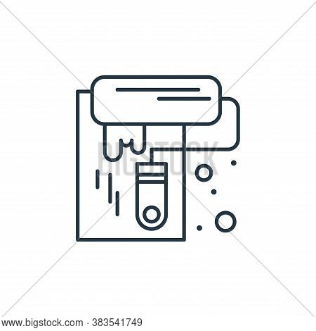 paint roller icon isolated on white background from labour day collection. paint roller icon trendy