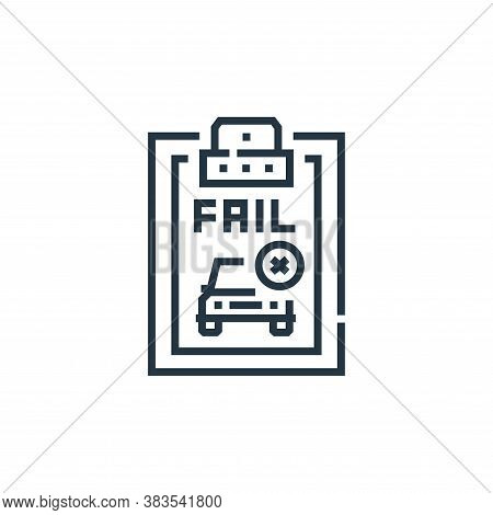 fail icon isolated on white background from driving school collection. fail icon trendy and modern f