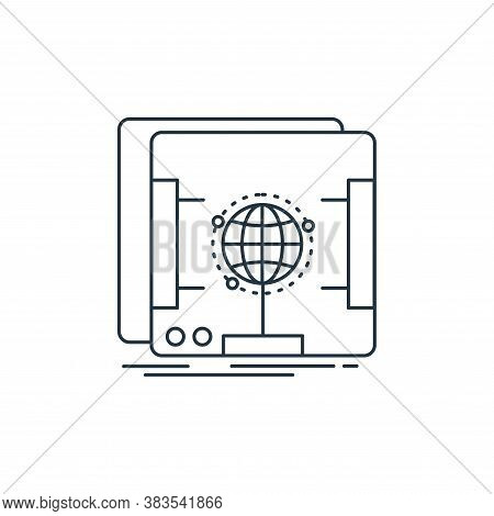 holographic icon isolated on white background from d printing and communication collection. holograp