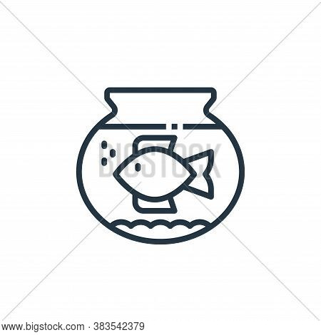 fishbowl icon isolated on white background from furniture collection. fishbowl icon trendy and moder