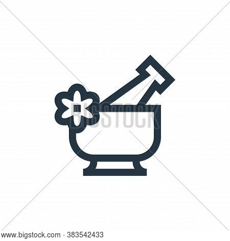 mortar icon isolated on white background from nursing collection. mortar icon trendy and modern mort