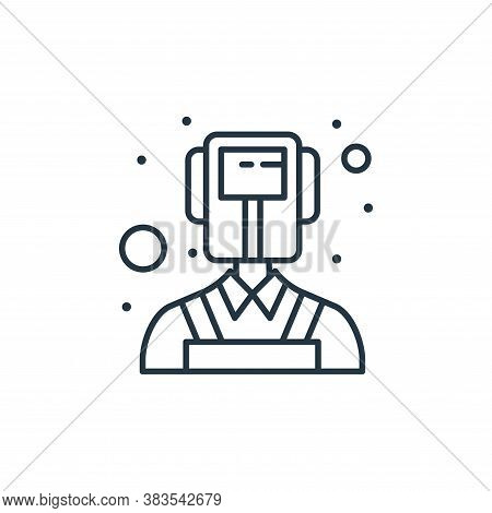 welder icon isolated on white background from labour day collection. welder icon trendy and modern w