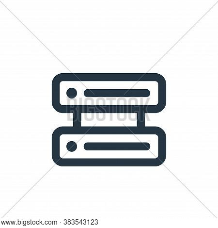 server icon isolated on white background from interface collection. server icon trendy and modern se