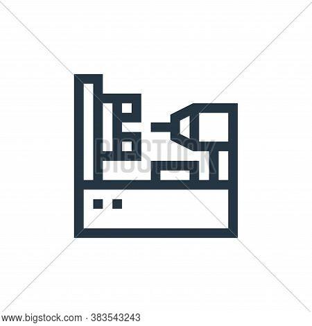 lathe machine icon isolated on white background from machinery collection. lathe machine icon trendy