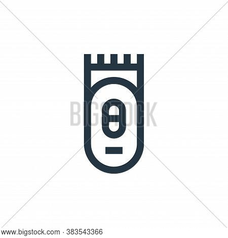 trimmer icon isolated on white background from hairdressing and barber shop collection. trimmer icon