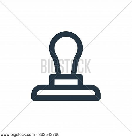 stamp icon isolated on white background from business collection. stamp icon trendy and modern stamp