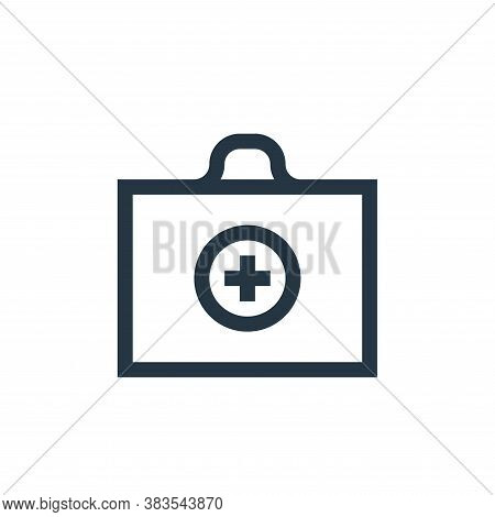 first aid kit icon isolated on white background from nursing collection. first aid kit icon trendy a