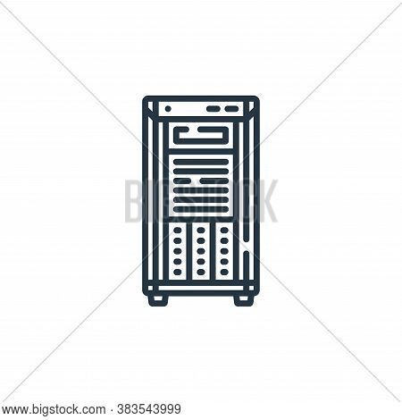 server icon isolated on white background from hardware collection. server icon trendy and modern ser