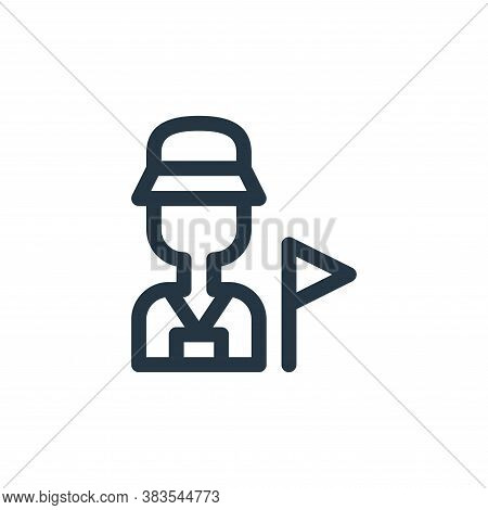 tour guide icon isolated on white background from animal and nature collection. tour guide icon tren