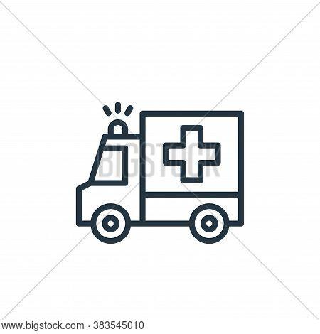 ambulance icon isolated on white background from coronavirus collection. ambulance icon trendy and m