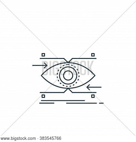 vision icon isolated on white background from analytic investment and balanced scorecard collection.